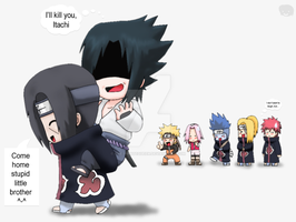 Naruto+Chibis: ItaSasu XD by The-PirateQueen