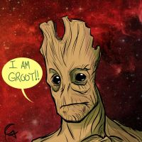 I am Groot!! by Guinicius