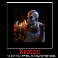 Kratos demotivational Poster by Fragnation