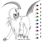 Absol template - lineart by Psunna