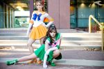 AWA 2011 - Sailor Moon | Sailor Venus + Jupiter by elysiagriffin