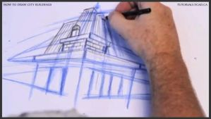 Learn how to draw city buildings 015 by drawingcourse