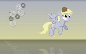 MLP: Muffins Rainmeter Desktop by Xris777