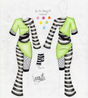 Stripes+Fishnets Outfit Design by Zaratulah