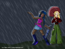 Rainy Day Elves WP by wifey