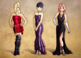 Naruto Girls by clefchan