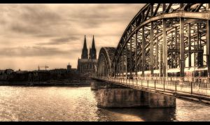 Bridge over Rhein II by sylaan