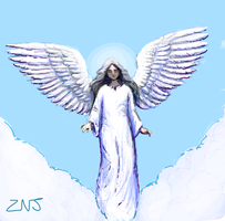 Angel for Draw Something by zachjacobs