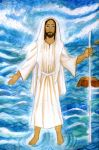 Jesus Walking on the sea by Kevsoraone