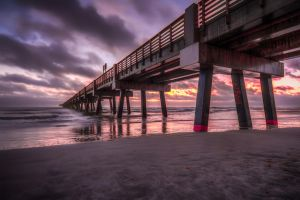 Waking up the pier by 904PhotoPhactory