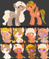 lighting speed x Milly foals by mermagic-adopts