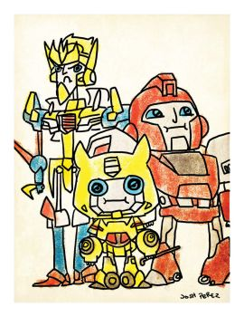 TF Pizza Party Print Botcon 2012 by dyemooch