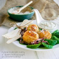 Curry fishballs with coconut dip by Pokakulka