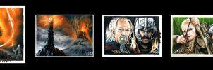 Lord of the Rings Sketch Cards by AstroVisionary