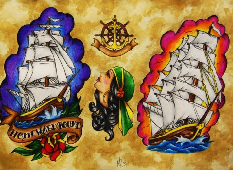 Flash sheet - Ships by Nevermore-Ink