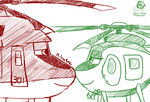 Planes FAR: Red and Green by Aileen-Rose