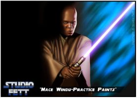 Mace Windu-Practice Paints by Studio-Fett