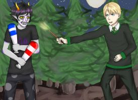 AT with Eisschweif: Gamzee Makara VS Draco Malfoy by Kathaaa
