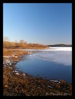 Mansfield Hollow Lake Thaw by Geayzus