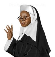 Speed Painting Whoopi Goldberg by DrawMeDotComDotAu