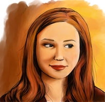 Amy Pond in colour by The-French-Belphegor