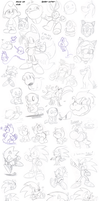 MOAR doodles by Nintendrawer
