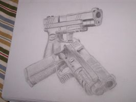 guns by TheBlackQueenFA