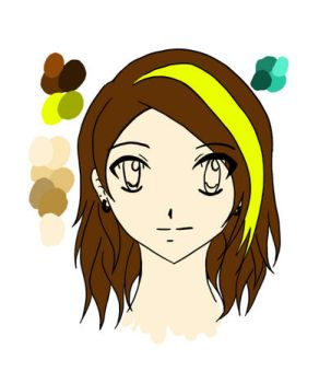 Animation Assignment 1: Create an Avatar WIP day 2 by ArtsMermaid