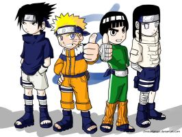 Konoha's Strongest Four by christenlanger