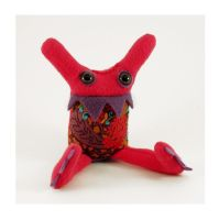 Pink Patterny Baby Monster by treesofmachinery