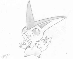 Victini by Kinology