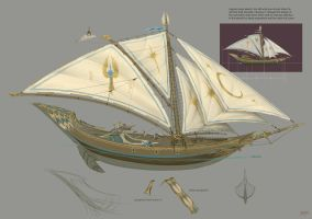 High Elf Ship by JonathanKirtz