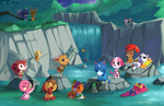 Animal Crossing - Waterfall by Jiayi