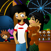 Danny and Sam at a Carnival by vladfan62891