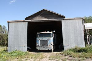 Old Mack in Barn by Wolfje1975