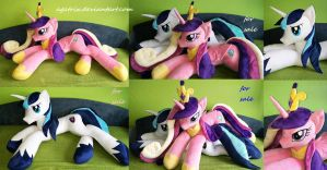 Life size Princess Cadence and Shining Armor SOLD by agatrix