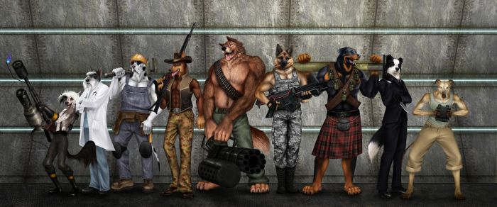 Commission - Dogs of War by jocarra