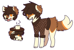 Auction - Coffee doge [CLOSED] by rikkasaur