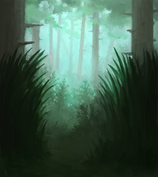 Forest by Exidelo