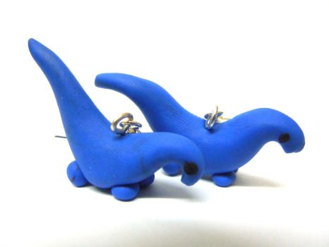 Indigo diplodicus earrings by Gillyflower-Designs