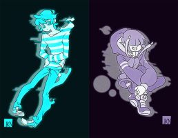 Ghost Kids by VeloursRose