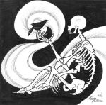 Skeleton and Bird by Wikidtron