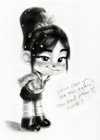 Vanellope - I got somethin' to say... by artistsncoffeeshops
