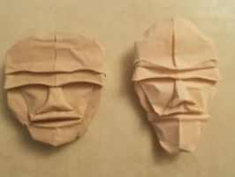 Origami Faces created by unknown. Folded by me. by OrigamiFolder13