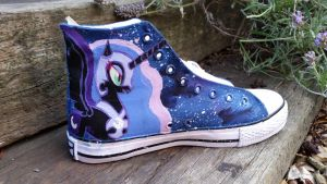 nightmare moon canvas  trainers by LightningChaser