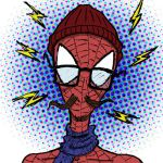 Hipster Spiderman by TheNoirGuy