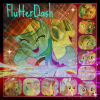 ( MLP ) FlutterDash Shipping Collage by KrazyKari