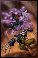 Crawler N Wolvie By Psychoheat by MarvelZombies