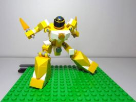 Mighty Morphin' LEGO Rangers: Yellow Ranger by AndiusMaximus