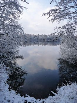 Winterlake by Caillean-Photography